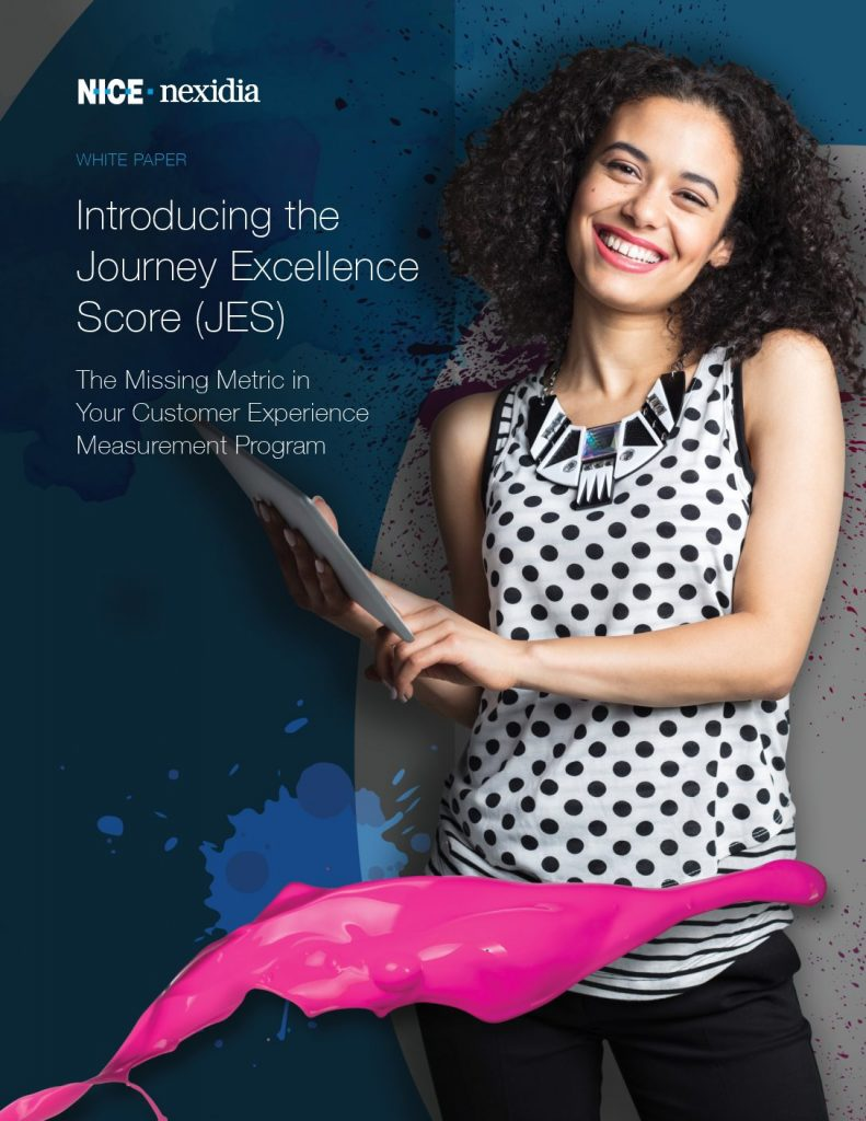Introducing the Journey Excellence Score (JES)