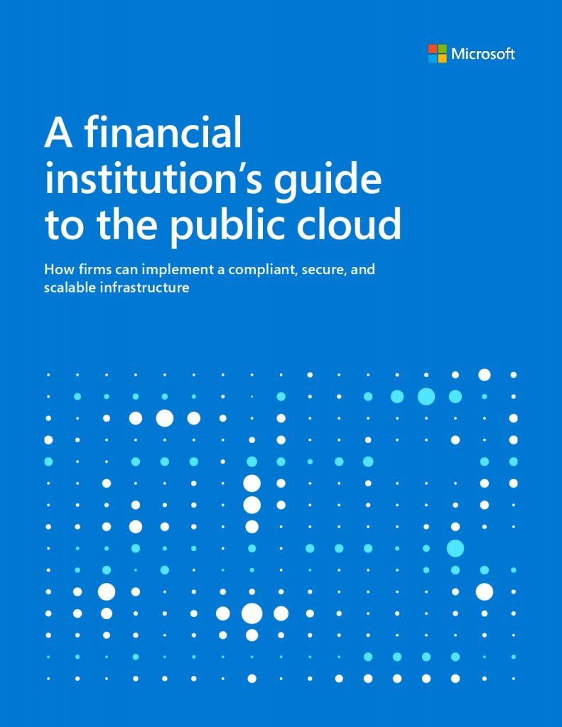 A Financial Institution's Guide to the Public Cloud