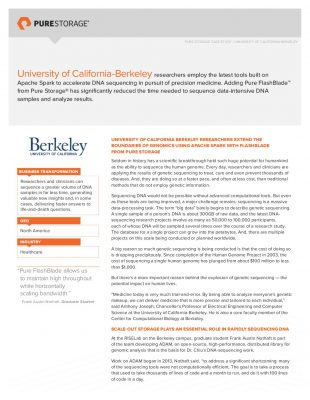 Pure Storage Case Study: University of California-Berkeley