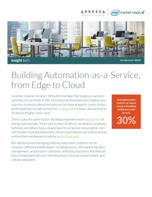 Building Automation-as-a-Service, from Edge to Cloud