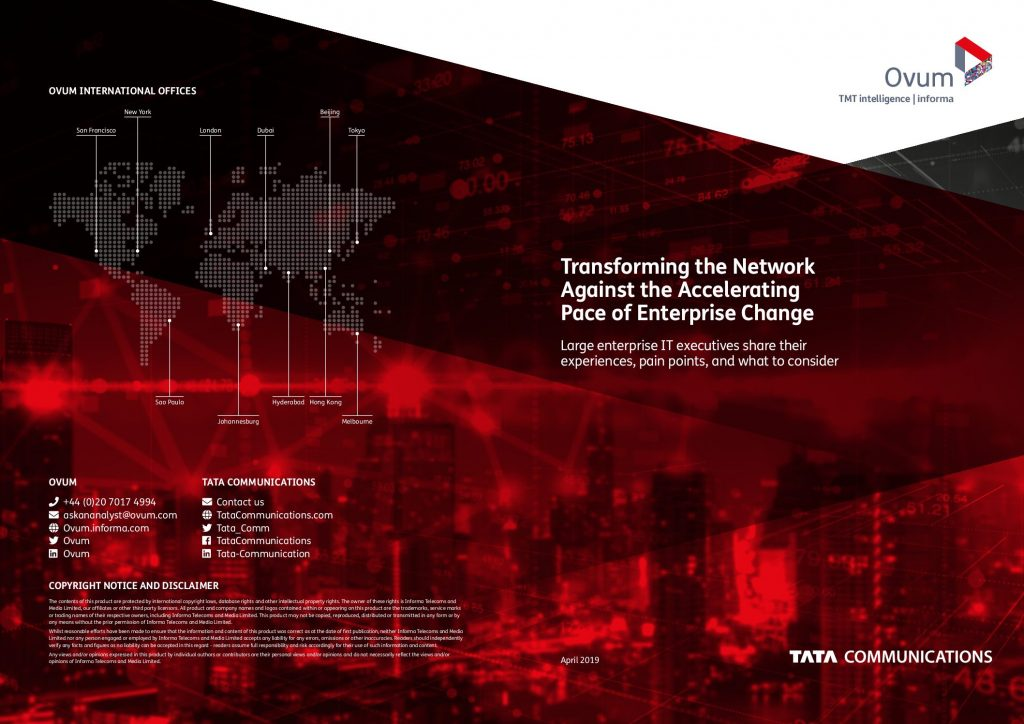Ovum 2 Transforming the Network Against the Accelerating Pace of Enterprise Change