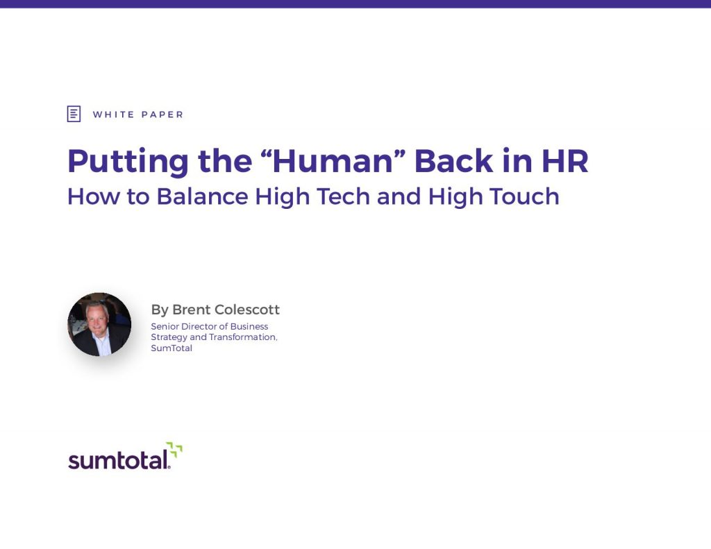 "Putting the ""Human"" Back in HR:"