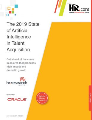 The 2019 State of Artificial Intelligence in Talent Acquisition