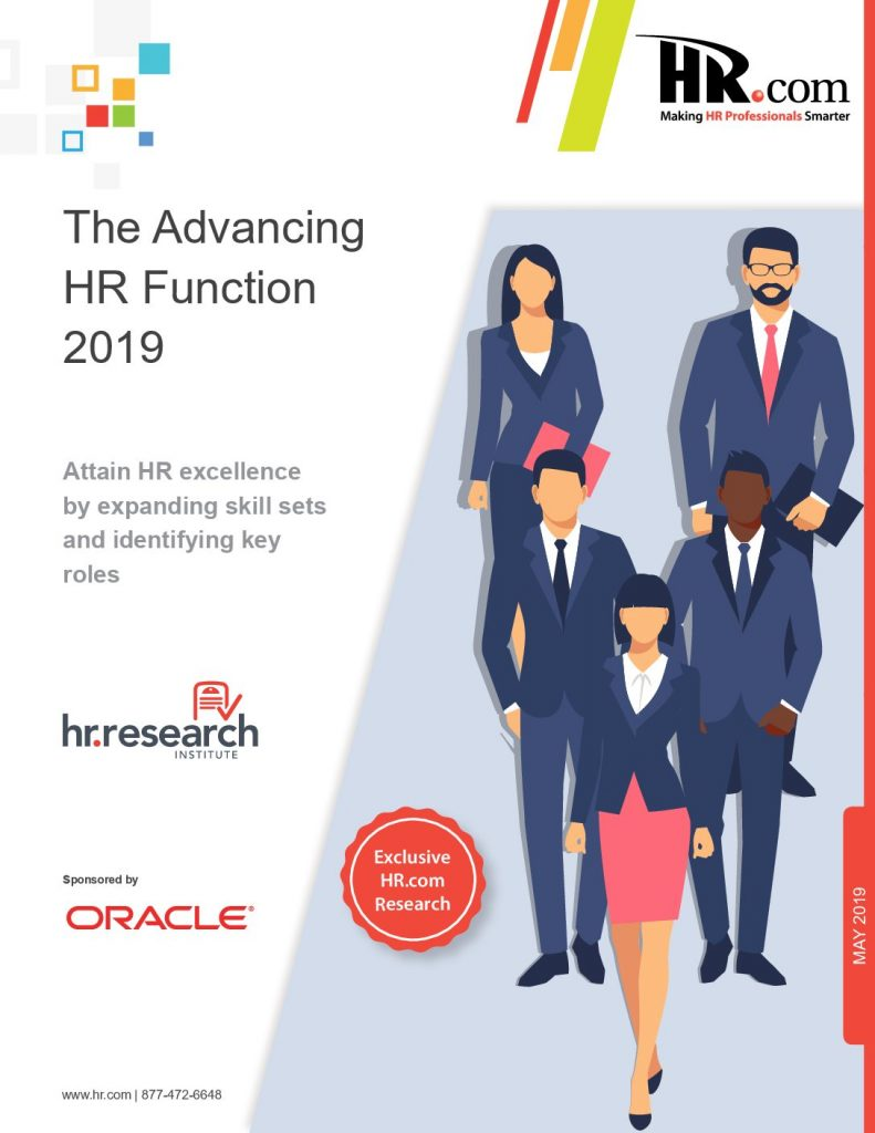 Advancing the HR Function 2019