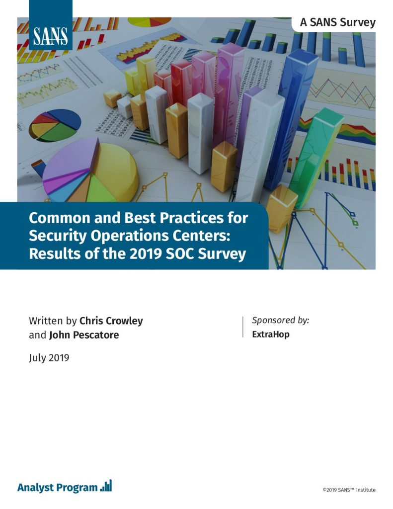 Common and Best Practices for Security Operations Centers: Results of the 2019 SOC Survey