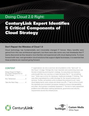 5 Critical Components of Cloud Strategy