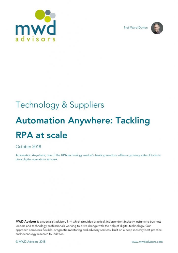Automation Anywhere: Tackling RPA at Scale