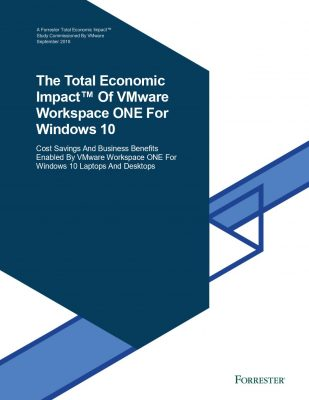 The Total Economic Impact of Workspace ONE for Windows 10