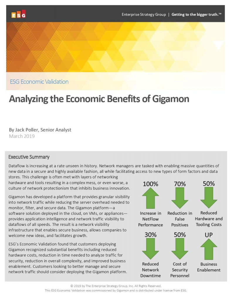 Analyzing the Economic Benefits of Gigamon