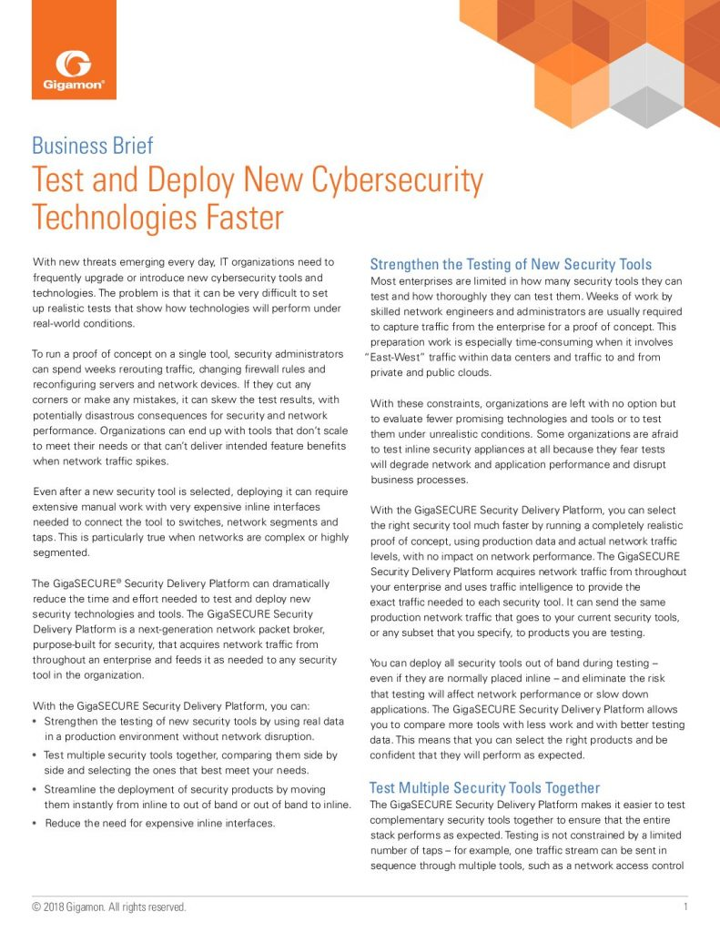Test and Deploy New Cybersecurity Technologies Faster