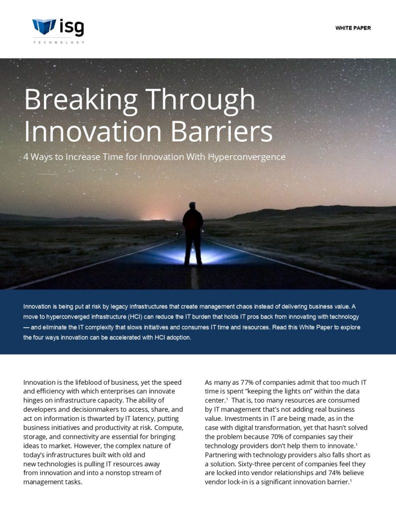 Accelerate Innovation With Hyperconvergence