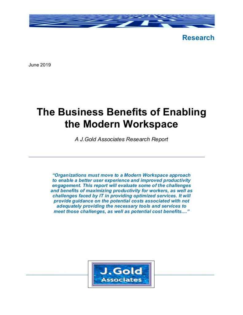 The Business Benefits of Enabling the Modern Workspace