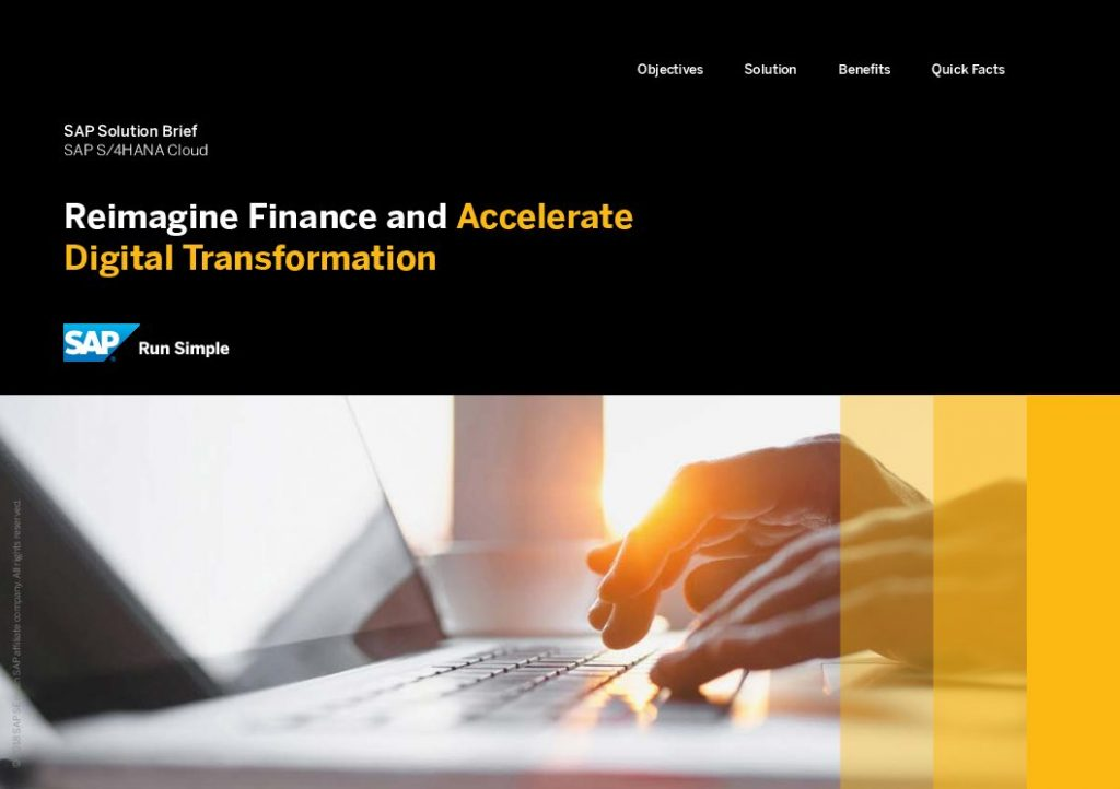 Reimagine Finance and Accelerate Digital Transformation
