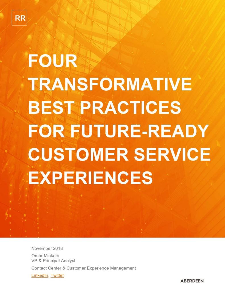ABERDEEN STUDY: Four Transformative Best Practices for Future-Ready Customer Service Experiences