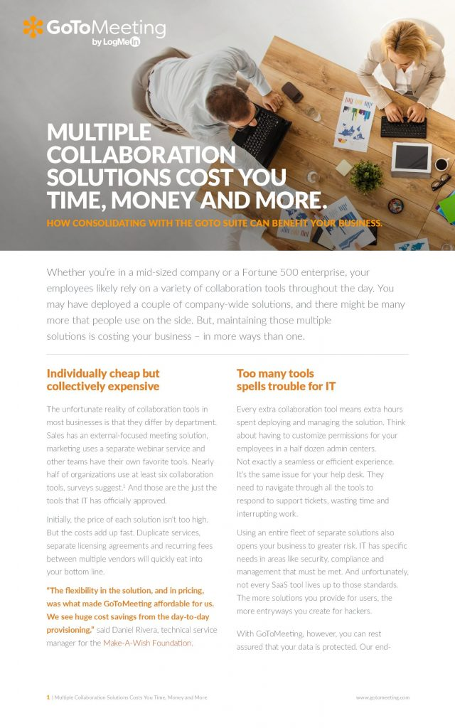 Multiple Collaboration Solutions Cost You Time, Money and More