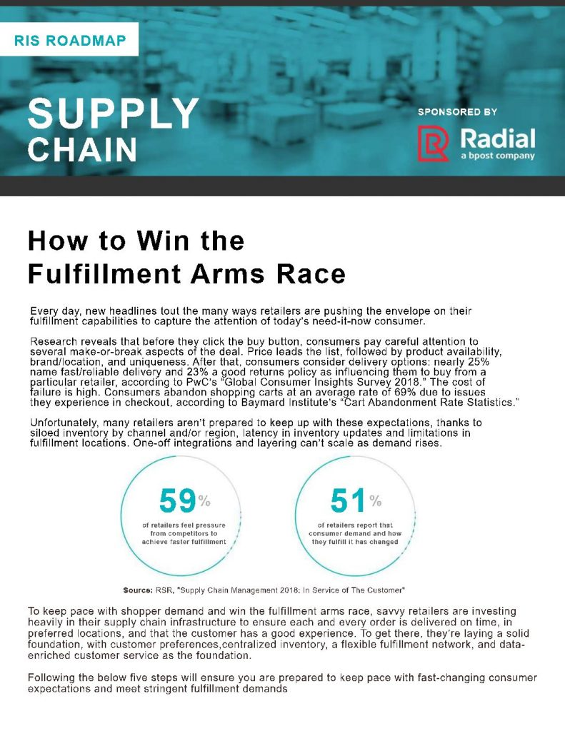 How to Win the Fulfillment Arms Race