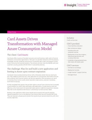Card Assets Drives Transformation with Managed Azure Consumption Model