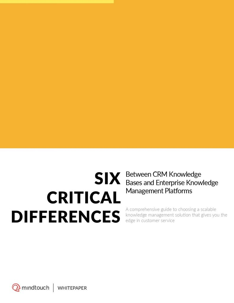 Six Critical Differences Between CRM Knowledge Bases and Enterprise Knowledge Management Platforms