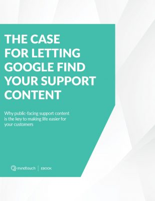The Case for Letting Google Find Your Support Content