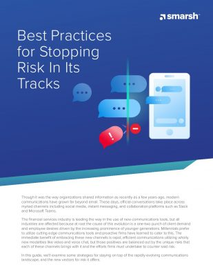 Best Practices for Stopping Risk in Its Tracks