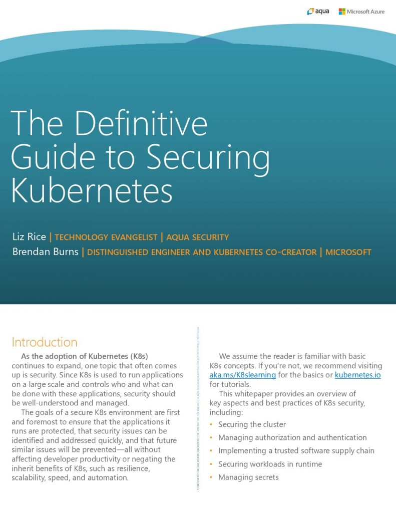 The Definitive Guide to Securing Kubernetes
