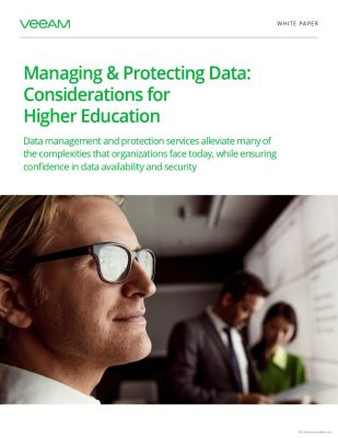 Managing  and  Protecting Data: Considerations for Higher Education