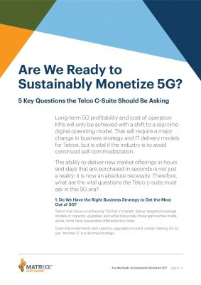 Are We Ready to Sustainably Monetize 5G?