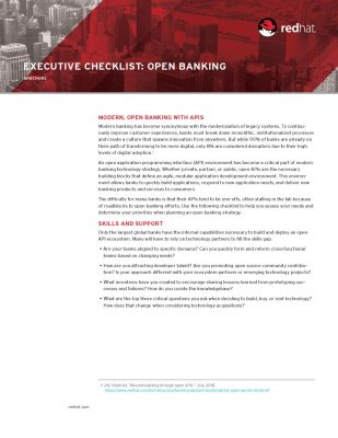 Executive Checklist: Open Banking
