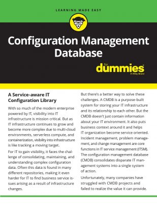 Configuration Management Database for Dummies iPaper