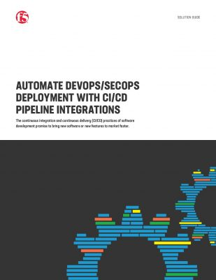 AUTOMATE DEVOPS/SECOPS DEPLOYMENT WITH CI/CD PIPELINE INTEGRATIONS