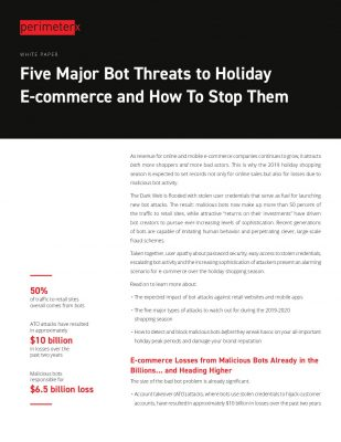 5 Major Bot Threats to Holiday E-commerce and How To Stop Them