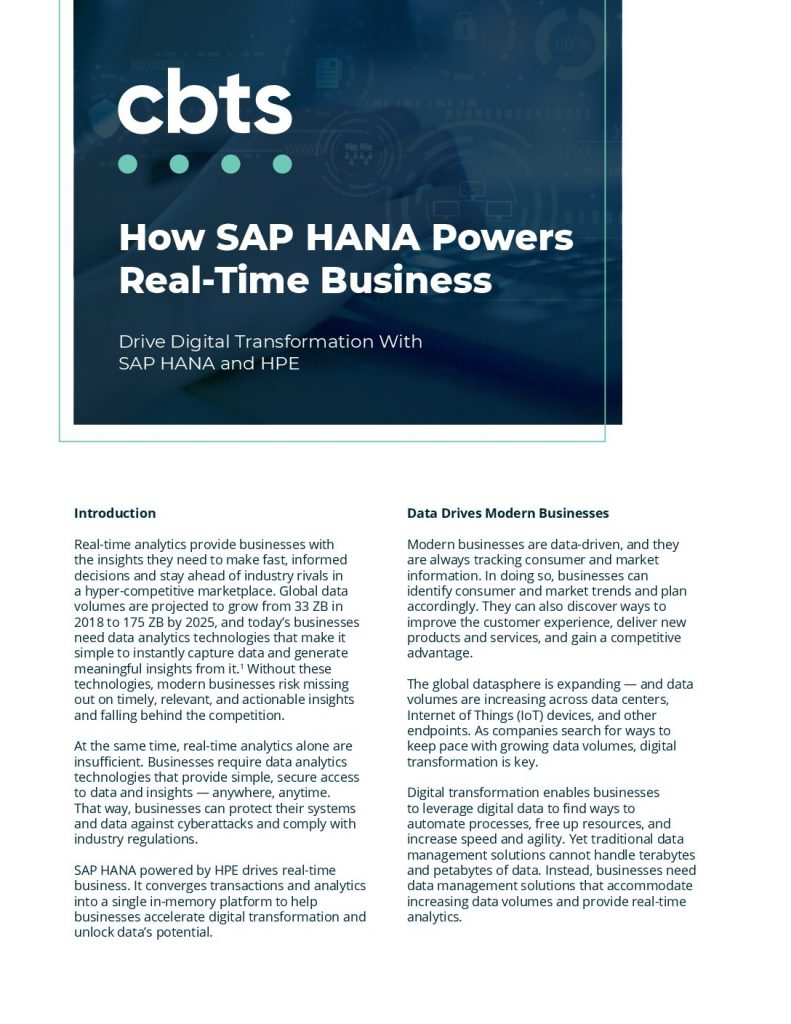 How SAP HANA Accelerates Digital Transformation
