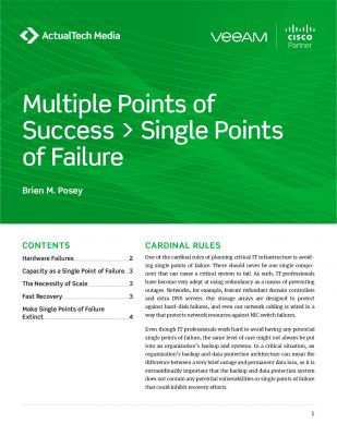 Multiple Points of Success > Single Points of Failure