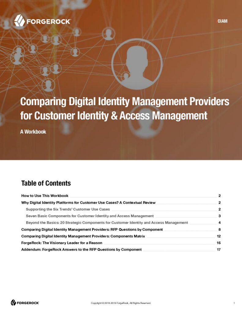 Comparing Digital Identity Management Providers for Customer Identity and Access Management