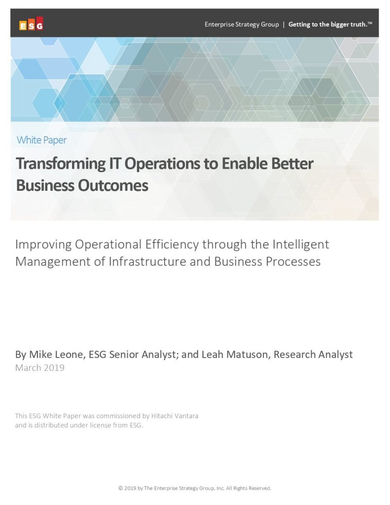 Transforming IT Operations To Enable Better Business Outcomes