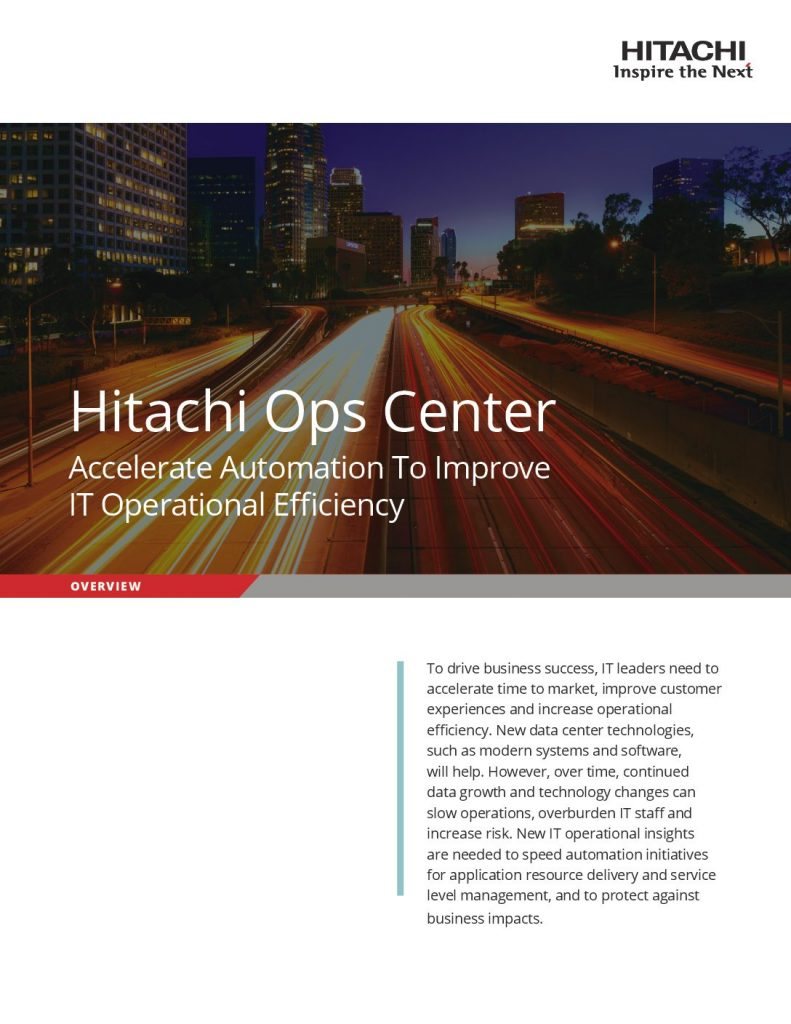 Hitachi Ops Center Brochure