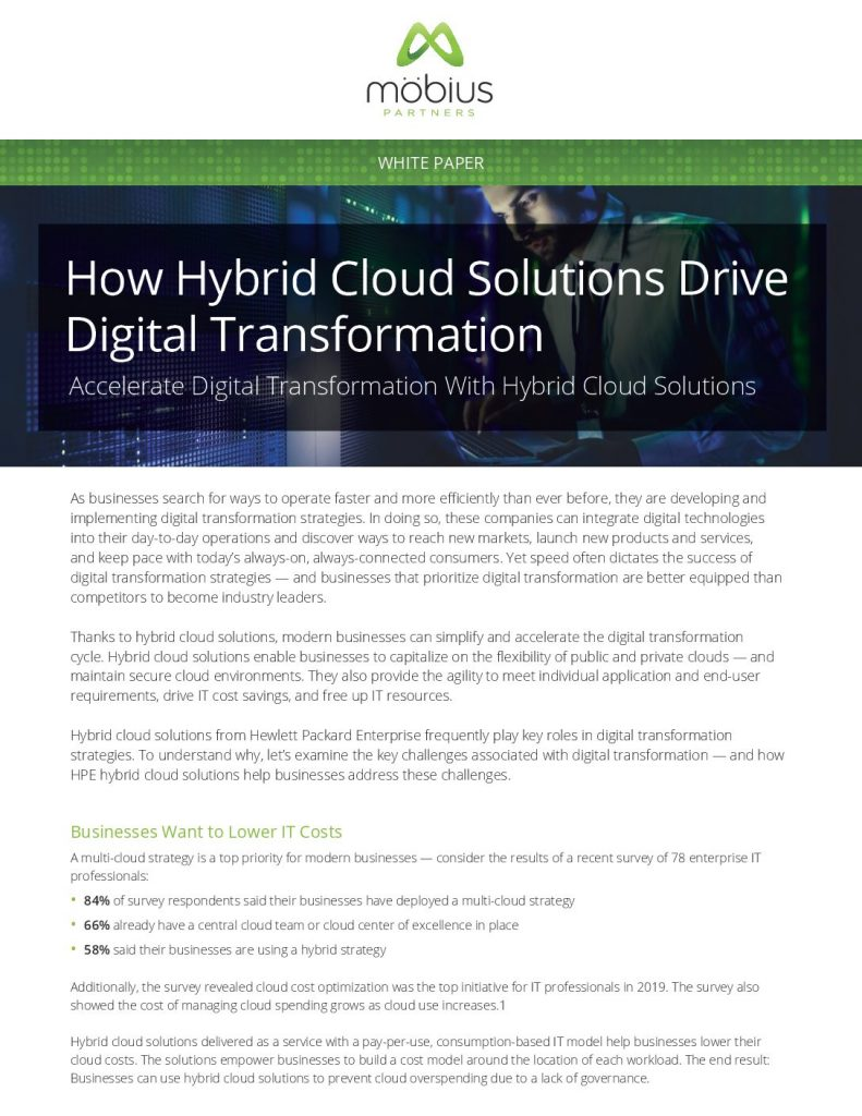 How Hybrid Cloud Solutions Drive Digital Transformation
