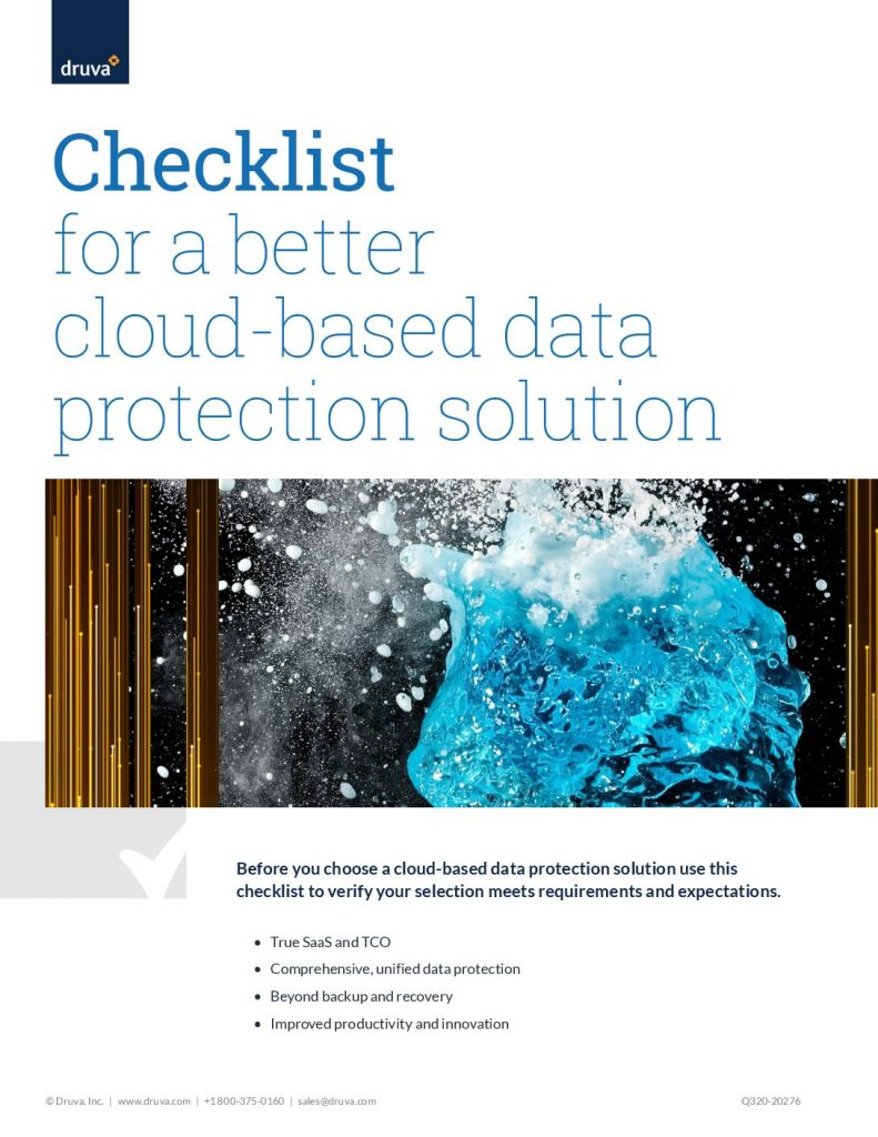 Checklist for a Better Cloud-Based Data Protection Solution