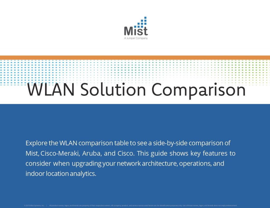 WLAN Solution Comparison Table