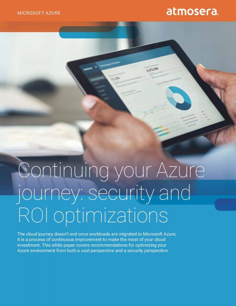 Continuing your Azure journey: security and ROI optimizations