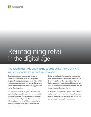 Reimagining retail in the digital age
