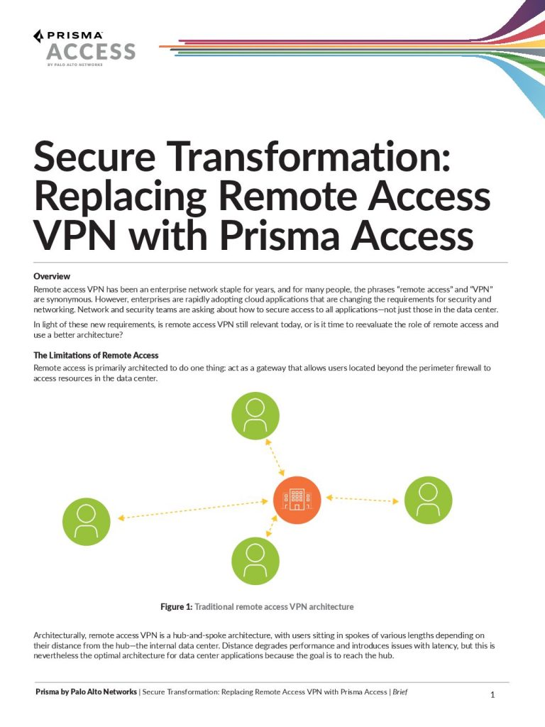 Replacing Remote Access VPN with Prisma Access