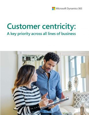 Customer centricity: A key priority across all lines of business