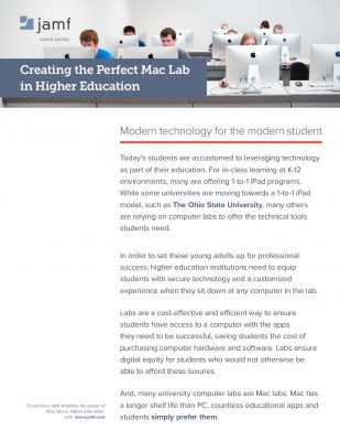 Creating the Perfect Mac Lab in Higher Education