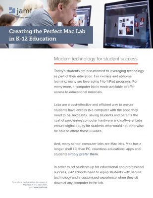 Creating the Perfect Mac Lab in K-12 Education