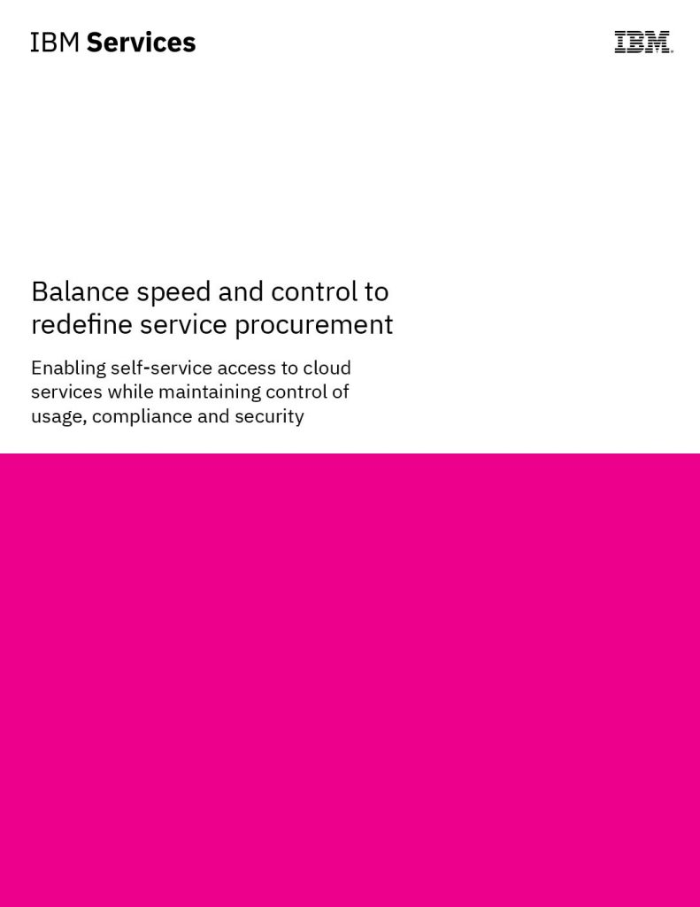Balance speed and control to redefine cloud procurement