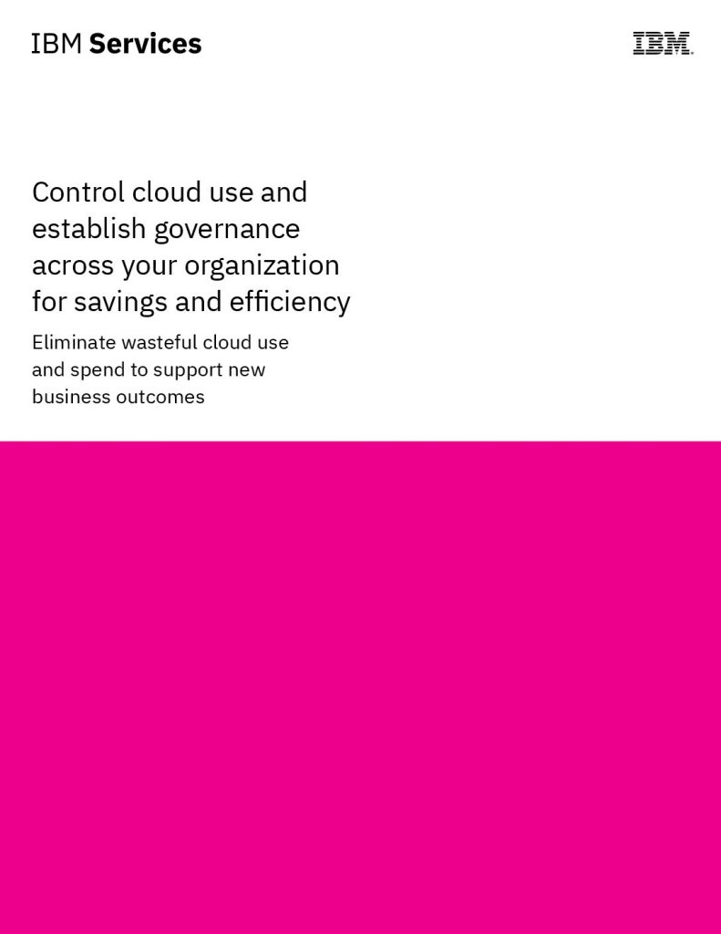 Control cloud use and establish governance across your multicloud environment for savings and efficiency