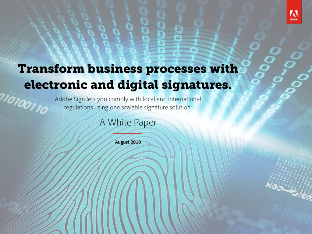 Transform Business Process with Electronic and Digital Signatures