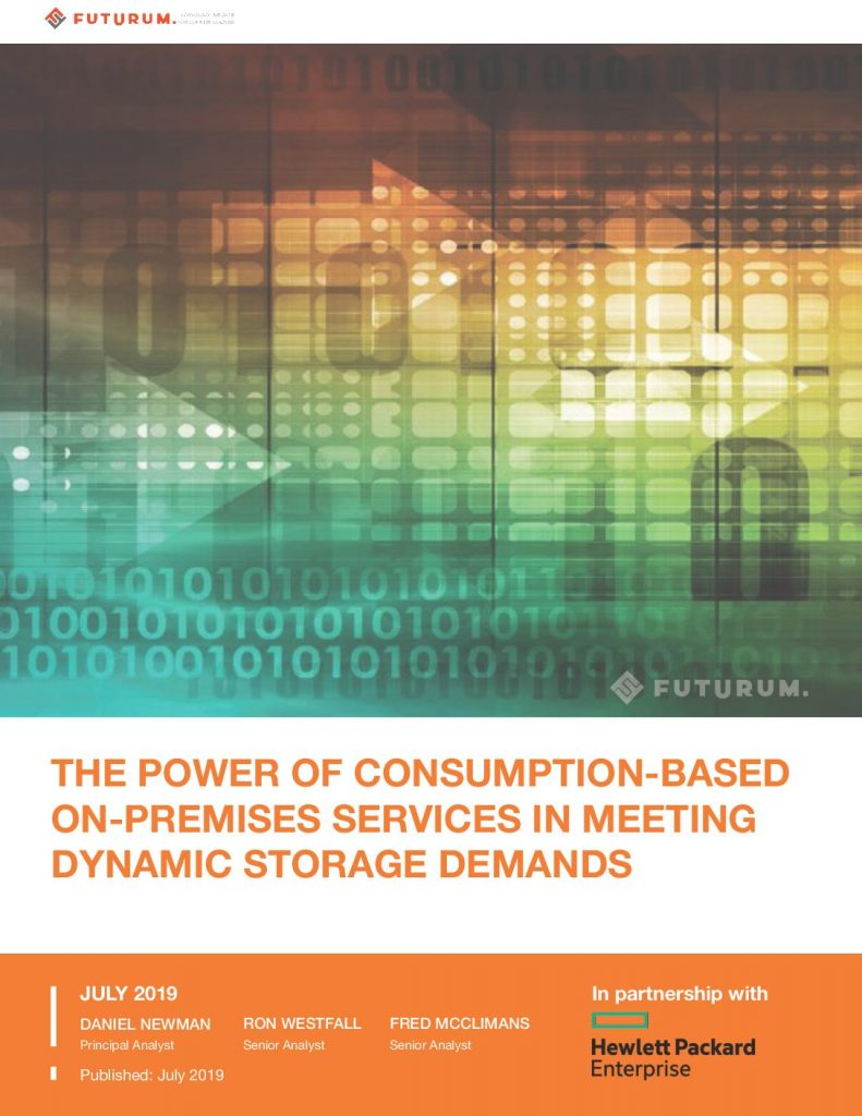 The Power of Consumption-Based-On-Premises Services In Meeting Dynamic Storage Demands