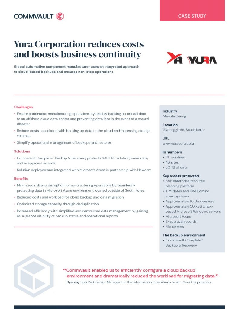 Yura Corporation – Case Study